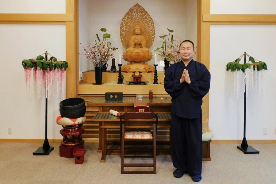 妙海寺の佐々木住職