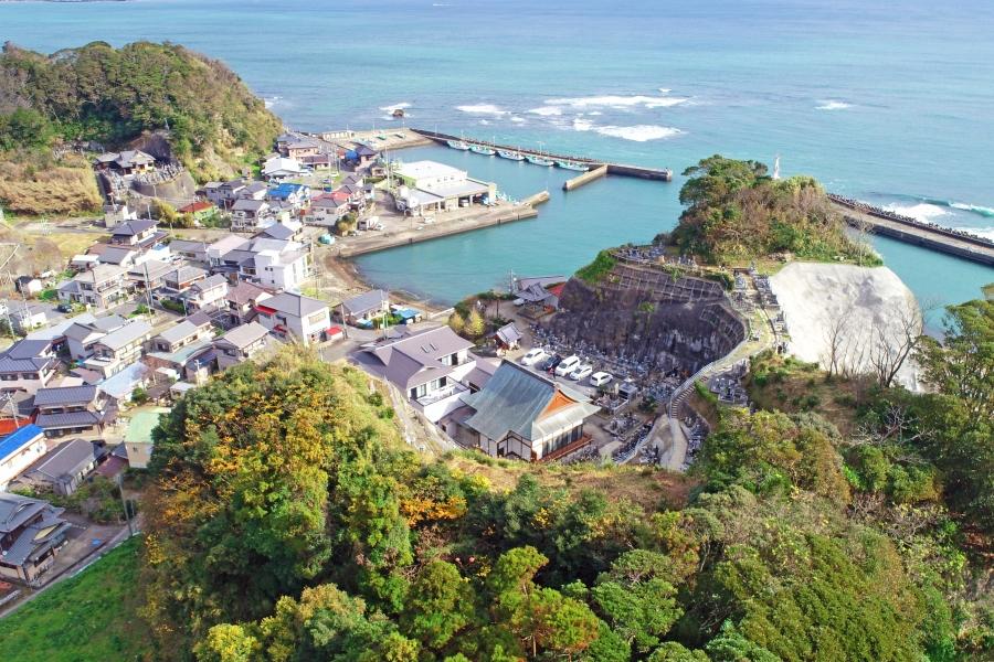 妙海寺を空から撮影
