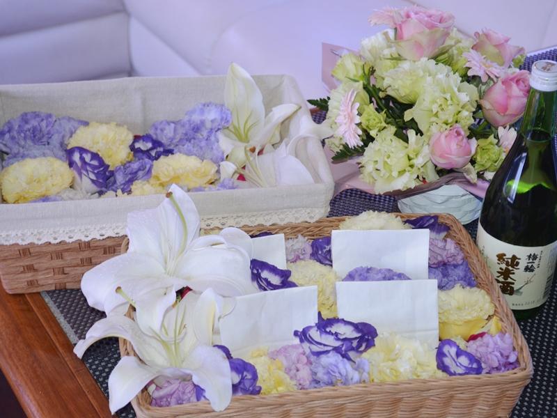 1.献花にはブーケをご用意