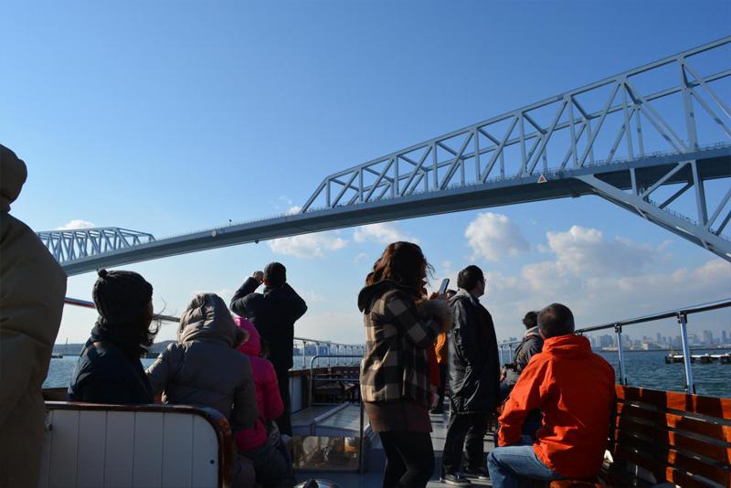 3.東京ゲートブリッジを潜ります