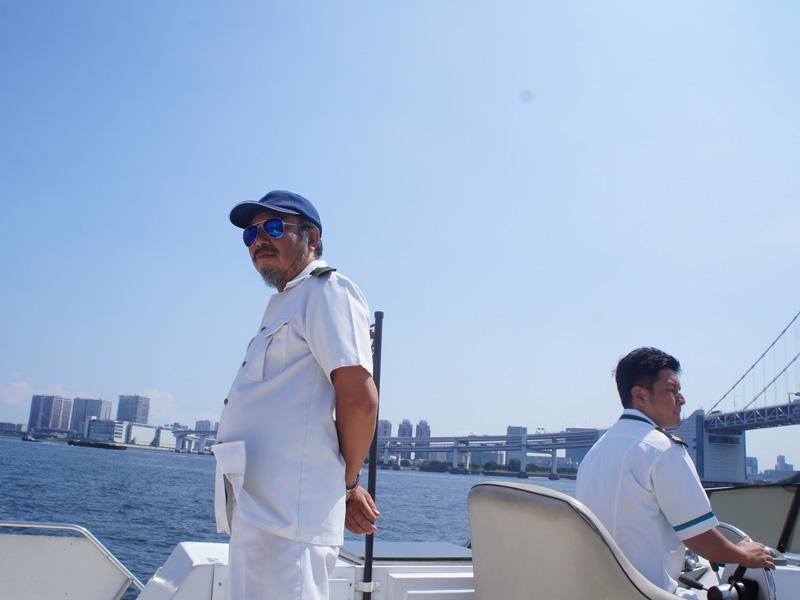 1.船長と船長候補、いいお天気です