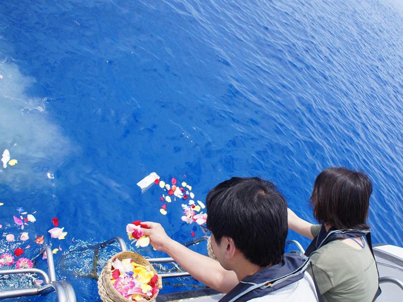 5.穏やかなケラマブルーの海へ散骨