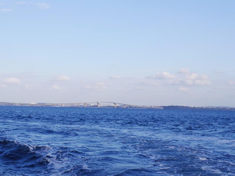 1.伊良部大橋を渡り伊良部島から出港