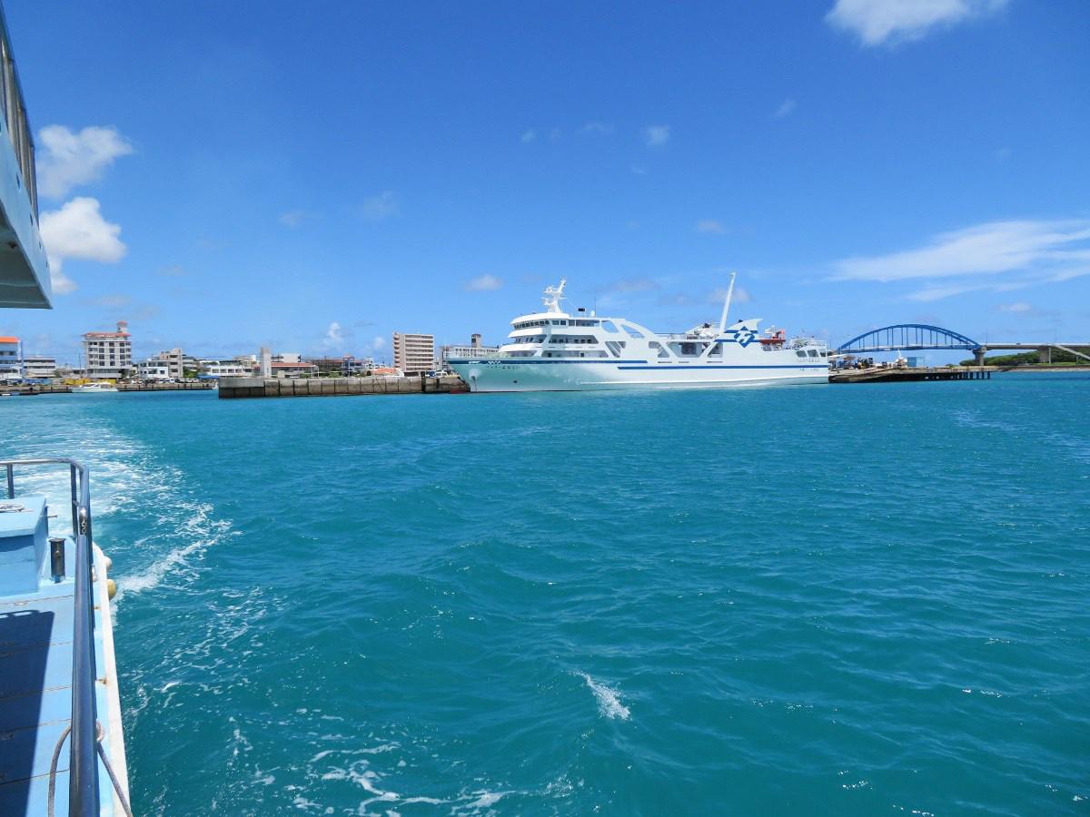 1.石垣島を出港