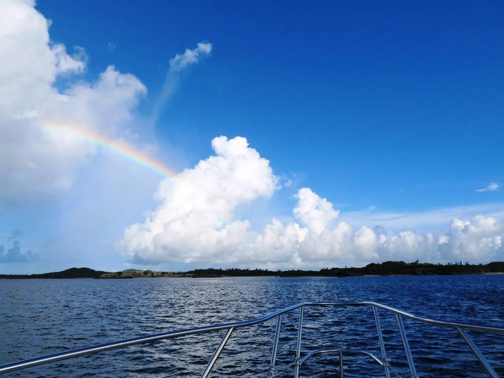 9.雲間に虹がかかります