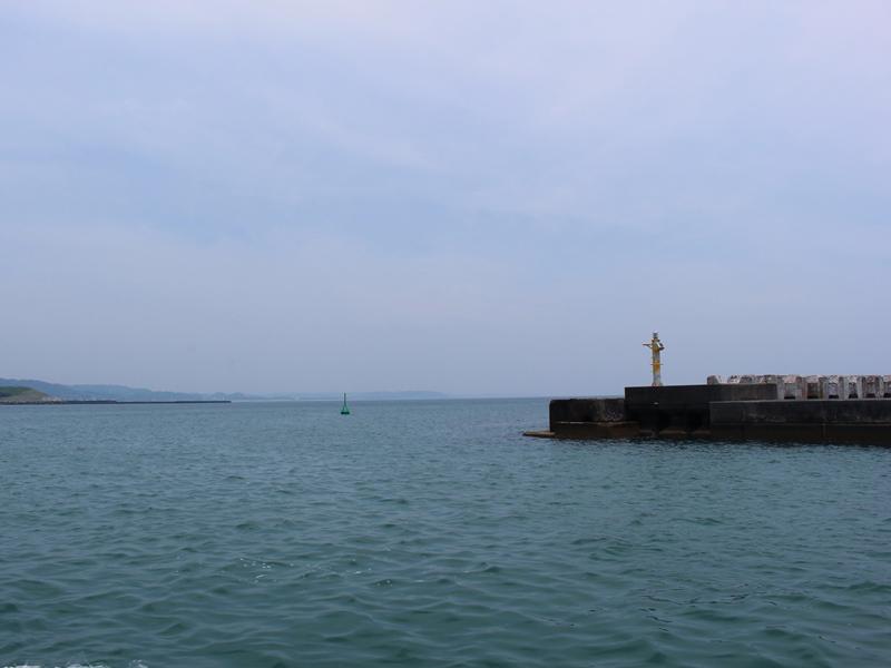 2.御前崎の港を出発