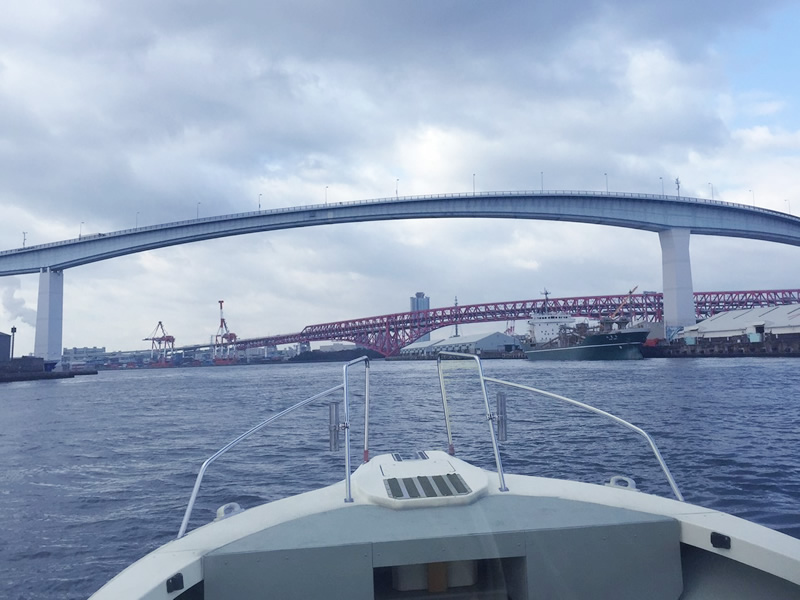 5.大阪市内の港に帰ります