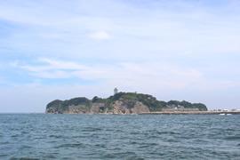 2.江ノ島沖の散骨ポイントへ
