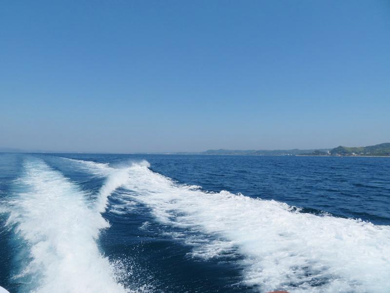1.館山湾へ出港