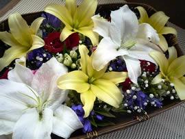 2.ユリの花かご