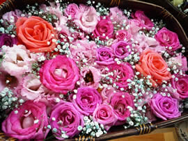 3.バラの花かご