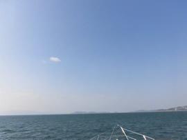 5.空気が澄んだ秋の和歌浦沖